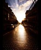 De straat van de ochtend Stock Afbeeldingen