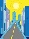 De Straat van de stad stock illustratie