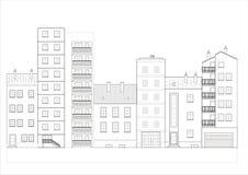 De straat van de stad vector illustratie