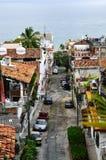 De straat van de stad in Puerto Vallarta, Mexico Stock Foto's