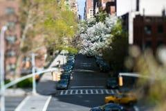 De Straat van de Stad van New York Stock Foto's
