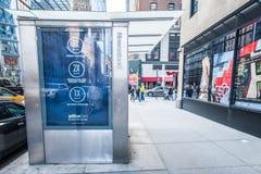 De Straat van de Stad van New York Stock Afbeelding
