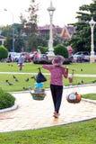 De straat van de straatverkoper in Phnom Phen Royalty-vrije Stock Foto's