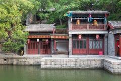 De straat van de Suzhoumarkt in de Zomerpaleis, Peking Stock Foto