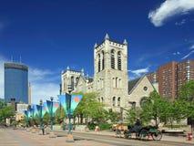 De straat van de Wandelgalerij van Nicollet in Minneapolis Royalty-vrije Stock Afbeeldingen