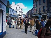 De Straat van de winkel in Galway Royalty-vrije Stock Afbeelding