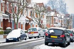 De Straat van de winter in Londen. Stock Afbeelding