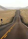 De straat van de woestijn Royalty-vrije Stock Afbeeldingen