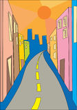 De straat van de zomer Stock Afbeelding