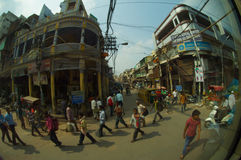 De straat van Delhi Stock Foto's