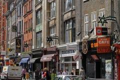 De straat van Denemarken in Londen Royalty-vrije Stock Foto's