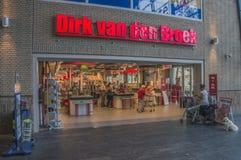 De Straat van Dirk Van Den Broek Supermarket At The Europaboulevard bij Amstedam-Nederland 2018 royalty-vrije stock foto's