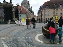 De straat van Dresden Stock Fotografie