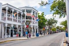 De Straat van Duval in Key West, Florida stock foto's
