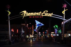 De Straat van Fremont, Las Vegas Royalty-vrije Stock Fotografie