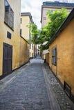De straat van Gamlastanstockholm, Sweeden Stock Afbeelding