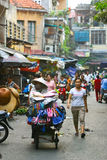 De straat van Hanoi Stock Foto