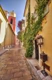 De straat van heilige Tropez Stock Foto's