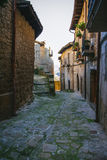 De straat van het bergdorp Stock Afbeelding