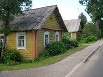 De straat van het dorp Stock Afbeeldingen
