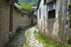De Straat van het dorp Stock Foto