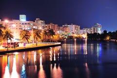 De straat van het het zuidenstrand van Miami Stock Fotografie