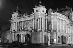 De straat van het de stadscentrum van Zagreb royalty-vrije stock foto