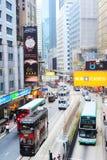 De straat van Hongkong Stock Foto's