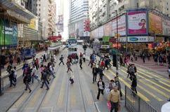 De straat van Hongkong Stock Afbeeldingen