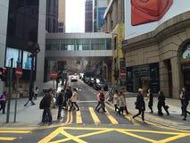 De straat van Hongkong Stock Foto