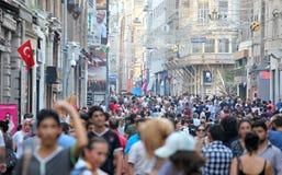 De Straat van Istiklal van Taksim royalty-vrije stock fotografie