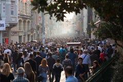 De Straat van Istiklal van Taksim Stock Foto