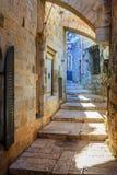 De straat van Jeruzalem Stock Afbeeldingen