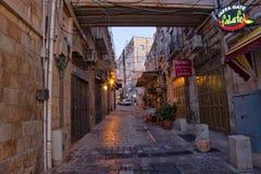 De straat van Jeruzalem Stock Fotografie