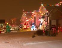 De Straat van Kerstmis Stock Afbeeldingen