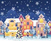 De straat van Kerstmis vector illustratie