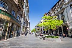 De straat van Knezmihailova Stock Foto