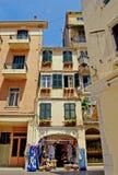 De straat van Korfu Stock Fotografie