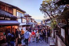 De straat van Kyoto royalty-vrije stock foto's