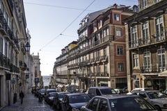 De straat van Lissabon Stock Afbeeldingen
