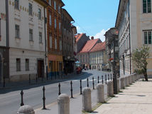 De straat van Ljubljana Stock Afbeeldingen