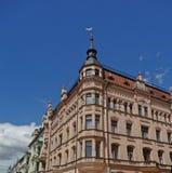 De Straat van Lodz, Piotrkowska Royalty-vrije Stock Afbeeldingen