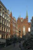 De Straat van Mary in Gdansk Stock Afbeelding