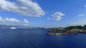 De Straat van Messina, Italië Stock Foto's