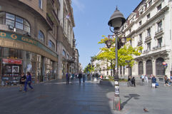 De straat van Mihaila van Knez Stock Foto's