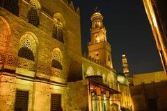 De Straat van Moez, bij nacht Stock Afbeeldingen