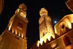 De Straat van Moez, bij nacht Stock Afbeelding