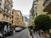 De straat van Monaco royalty-vrije stock fotografie