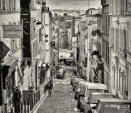 De Straat van Montmartre, Parijs Stock Afbeeldingen
