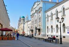De straat van Moskou Stock Afbeeldingen